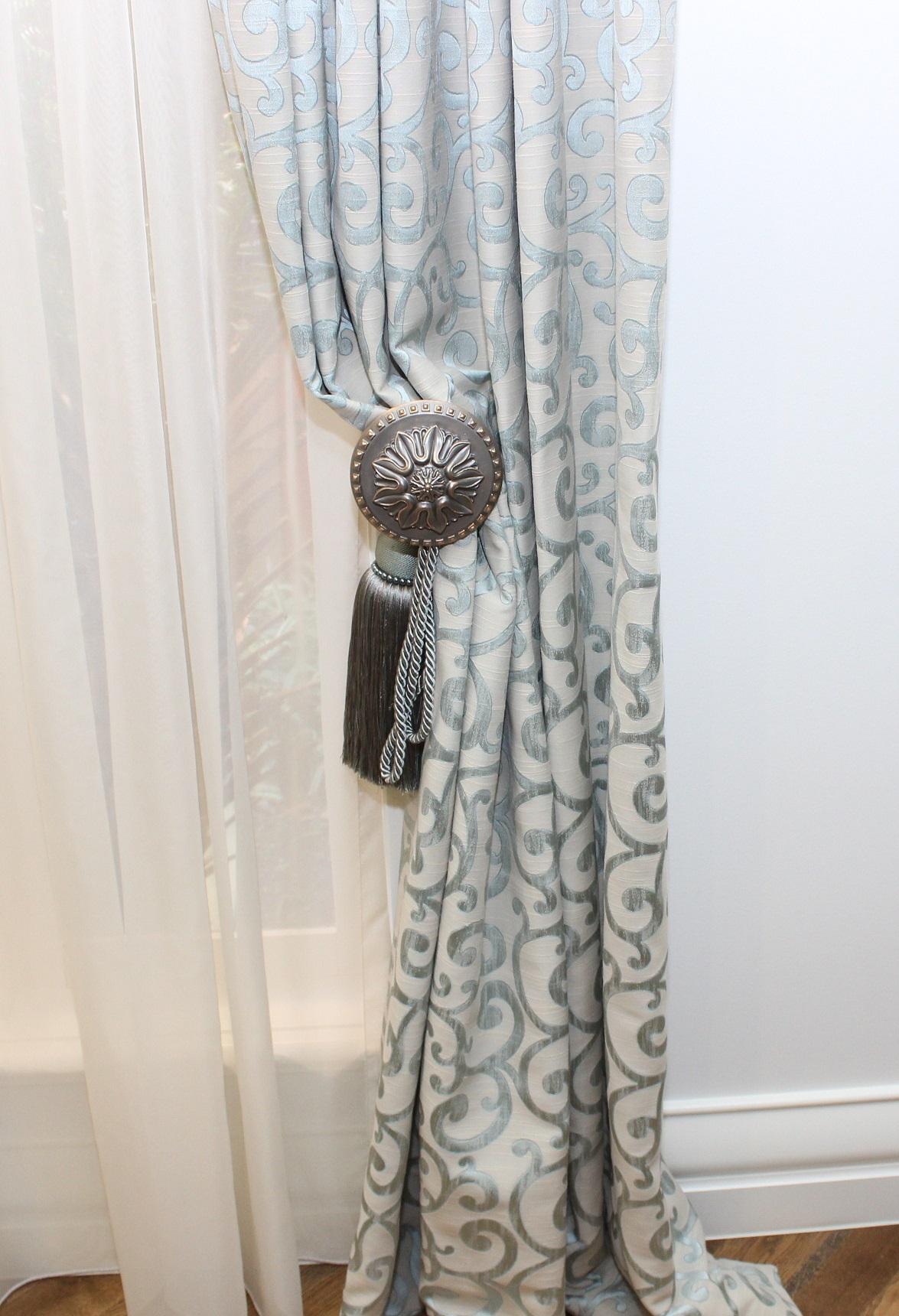 Designer Curtains Hold Back